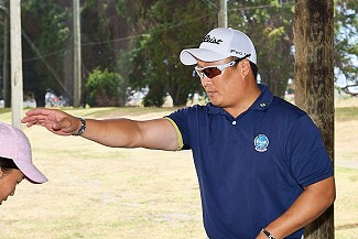 PGA Professional Sam Cho in action