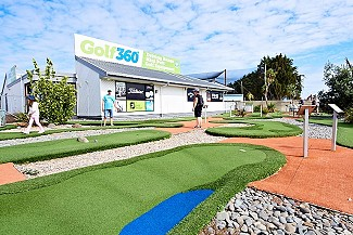 Test your skills on our fun mini putt course