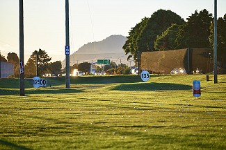 A nice view of Mauao from the driving range