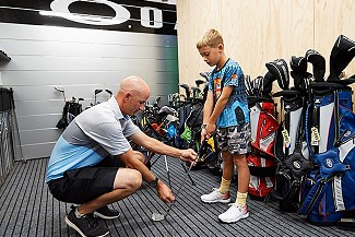 We fit junior golfers for equipment